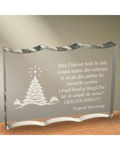 Cadou personalizat trofeu plexiglas ondulat - Langa brad   Ghizbi.ro
