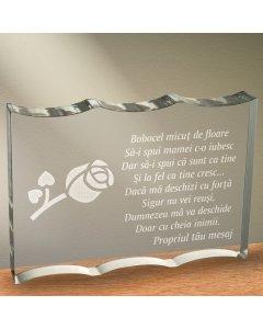 Cadou personalizat trofeu plexiglas ondulat - Sa ii spui mamei | Ghizbi.ro