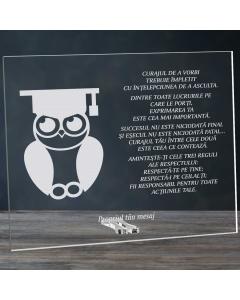 Cadou personalizat placheta din plexiglas - Absolvent la drept | Ghizbi.ro