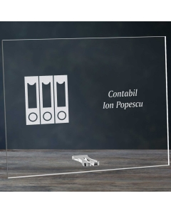 Cadou personalizat placheta din plexiglas - Contabil | Ghizbi.ro