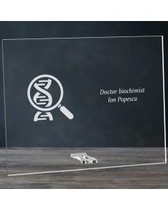 Cadou personalizat placheta din plexiglas - Doctor biochimist | Ghizbi.ro