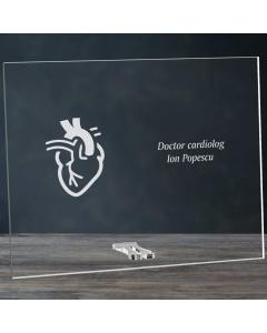 Cadou personalizat placheta din plexiglas - Doctor cardiolog   Ghizbi.ro