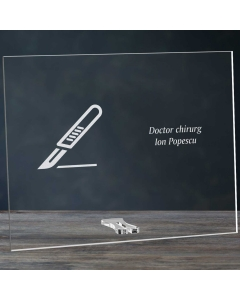Cadou personalizat placheta din plexiglas - Doctor chirurg | Ghizbi.ro