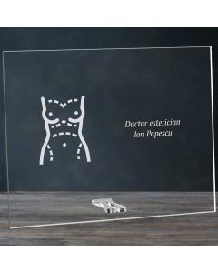 Cadou personalizat placheta din plexiglas - Doctor estetician | Ghizbi.ro