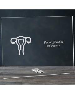 Cadou personalizat placheta din plexiglas - Doctor ginecolog | Ghizbi.ro
