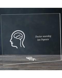 Cadou personalizat placheta din plexiglas - Doctor neurolog   Ghizbi.ro