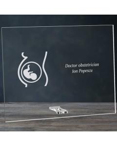Cadou personalizat placheta din plexiglas - Doctor obstetrician | Ghizbi.ro