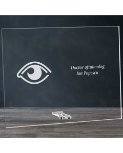 Cadou personalizat placheta din plexiglas - Doctor oftalmolog | Ghizbi.ro