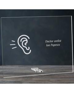 Cadou personalizat placheta din plexiglas - Doctor orelist   Ghizbi.ro