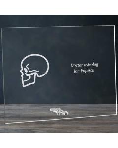 Cadou personalizat placheta din plexiglas - Doctor osteolog   Ghizbi.ro
