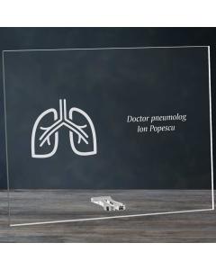 Cadou personalizat placheta din plexiglas - Doctor pneumolog | Ghizbi.ro
