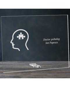 Cadou personalizat placheta din plexiglas - Doctor psiholog | Ghizbi.ro