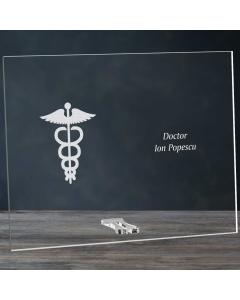 Cadou personalizat placheta din plexiglas - Doctor    Ghizbi.ro