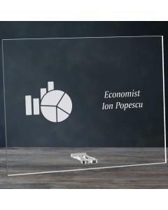 Cadou personalizat placheta din plexiglas - Economist   Ghizbi.ro