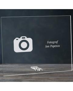 Cadou personalizat placheta din plexiglas - Fotograf | Ghizbi.ro