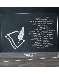 Cadou personalizat placheta din plexiglas - Limba romana nu se pierde | Ghizbi.ro