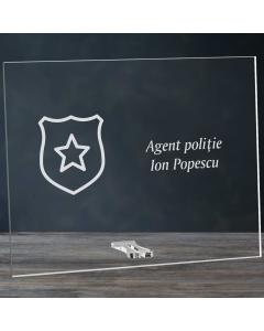 Cadou personalizat placheta din plexiglas - Politist | Ghizbi.ro