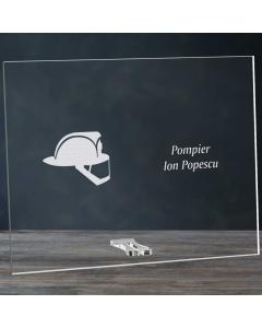 Cadou personalizat placheta din plexiglas - Pompier | Ghizbi.ro