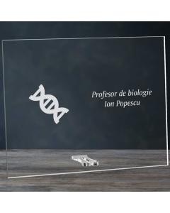 Cadou personalizat placheta din plexiglas - Profesor de biologie | Ghizbi.ro