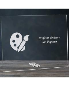 Cadou personalizat placheta din plexiglas - Profesor de desen | Ghizbi.ro