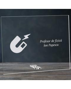 Cadou personalizat placheta din plexiglas - Profesor de fizica | Ghizbi.ro