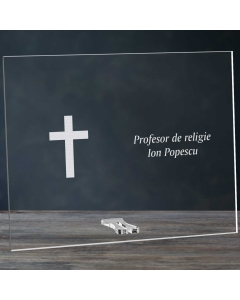 Cadou personalizat placheta din plexiglas - Profesor de religie   Ghizbi.ro