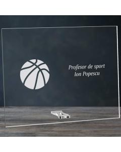 Cadou personalizat placheta din plexiglas - Profesor de sport | Ghizbi.ro