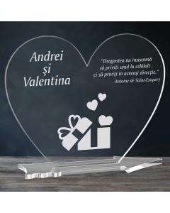 Cadou personalizat placheta plexiglas inima - Cadou din dragoste   Ghizbi.ro