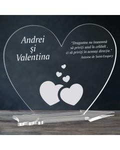 Cadou personalizat placheta plexiglas inima - Din dragoste | Ghizbi.ro