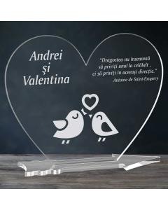 Cadou personalizat placheta plexiglas inima - Perechea perfecta   Ghizbi.ro