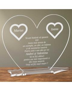 Cadou personalizat placheta plexiglas inima - Vreti sa fiti nasii nostri | Ghizbi.ro