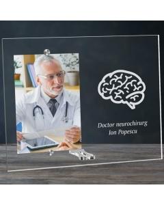 Cadou personalizat rama plexiglas -  Doctor neurochirurg | Ghizbi.ro