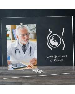 Cadou personalizat rama plexiglas -  Doctor obstetrician | Ghizbi.ro