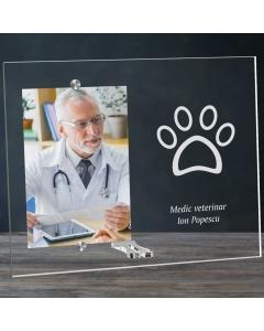 Cadou personalizat rama plexiglas -  Doctor veterinar | Ghizbi.ro