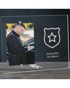 Cadou personalizat rama plexiglas -  Politist | Ghizbi.ro