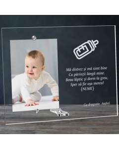 Cadou personalizat rama plexiglas - Beau laptic si dorm mereu | Ghizbi.ro
