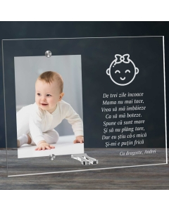 Cadou personalizat rama plexiglas - Botez fetita | Ghizbi.ro