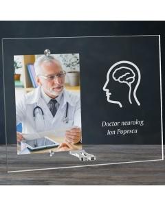 Cadou personalizat rama plexiglas - Doctor neurolog   Ghizbi.ro