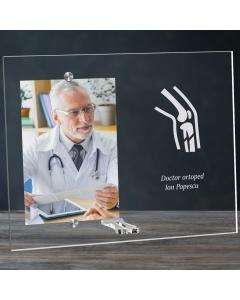 Cadou personalizat rama plexiglas -  Doctor ortoped   Ghizbi.ro
