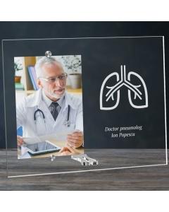 Cadou personalizat rama plexiglas -  Doctor pneumolog | Ghizbi.ro