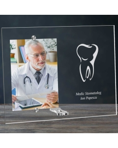 Cadou personalizat rama plexiglas -  Doctor stomatolog | Ghizbi.ro