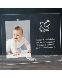 Cadou personalizat rama plexiglas - Doi copii in dar | Ghizbi.ro