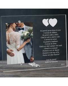 Cadou personalizat rama plexiglas - Doua inimi | Ghizbi.ro