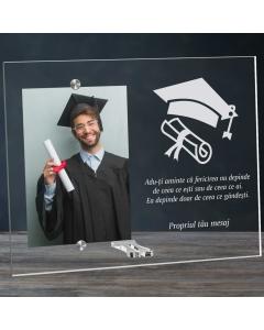 Cadou personalizat rama plexiglas - Fericirea depinde de ce gandesti | Ghizbi.ro