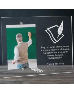 Cadou personalizat rama plexiglas - Limba romana nu se pierde | Ghizbi.ro