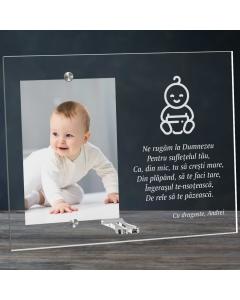 Cadou personalizat rama plexiglas - Ne rugam la Dumnezeu | Ghizbi.ro