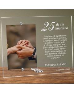 Cadou personalizat rama plexiglas - Nunta de argint | Ghizbi.ro
