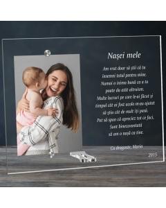 Cadou personalizat rama plexiglas - Pentru nasa mea | Ghizbi.ro