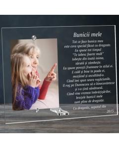 Cadou personalizat rama plexiglas - Poem pentru bunica mea | Ghizbi.ro