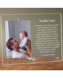 Cadou personalizat rama plexiglas - Poezie pentru un tata drag | Ghizbi.ro
